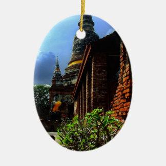 Ayutthaya. Wat Yai Chai Mongkol. Christmas Tree Ornament