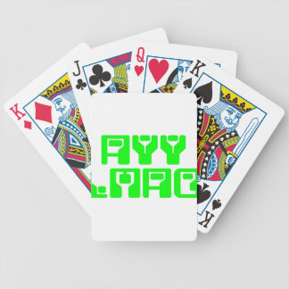 ayy lmao bicycle playing cards