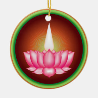 Ayyavazhi Indian Dharmic Religious Symbol Ceramic Ornament