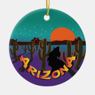 AZ  Arizona Christmas Howling Coyote Christmas Ornament