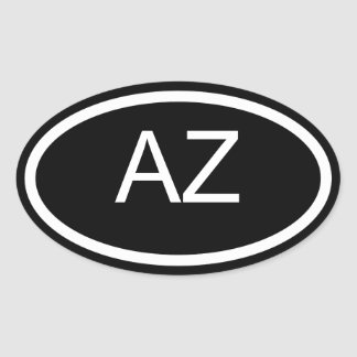 AZ Arizona Euro Style Oval Sticker