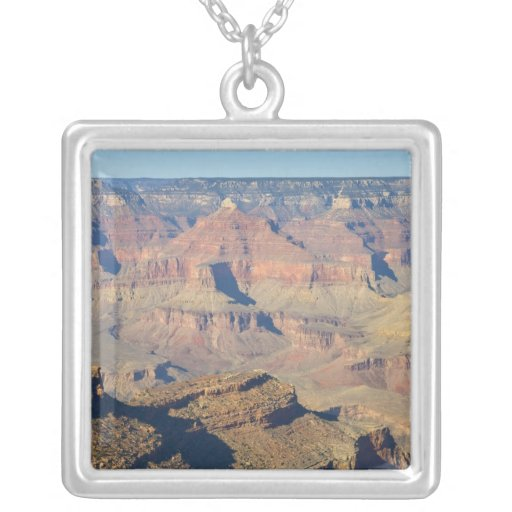 AZ, Arizona, Grand Canyon National Park, South 3 Square Pendant Necklace