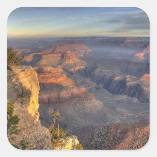 AZ, Arizona, parque nacional del Gran Cañón, 2 del Pegatina Cuadradas