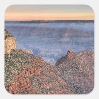 AZ, Arizona, parque nacional del Gran Cañón, 2 del Calcomanía Cuadrada