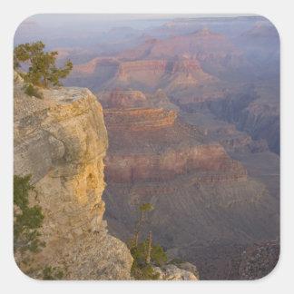 AZ, Arizona, parque nacional del Gran Cañón, 7 del Calcomanías Cuadradas Personalizadas