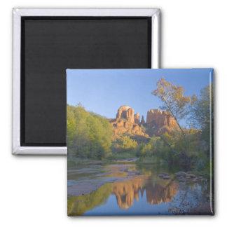 AZ, Arizona, Sedona, Crescent Moon Recreation 2 Inch Square Magnet