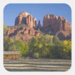 AZ, Arizona, Sedona, Crescent Moon Recreation 2 Square Sticker