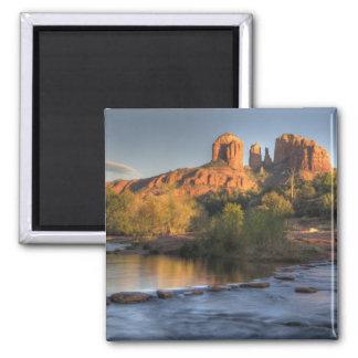 AZ, Arizona, Sedona, Crescent Moon Recreation 3 2 Inch Square Magnet
