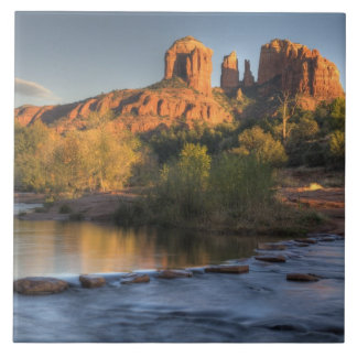 AZ, Arizona, Sedona, Crescent Moon Recreation 3 Ceramic Tile