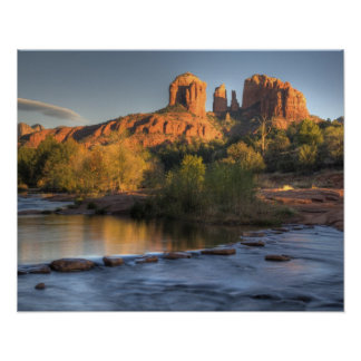 AZ, Arizona, Sedona, Crescent Moon Recreation 3 Poster