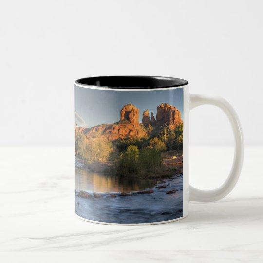 AZ, Arizona, Sedona, Crescent Moon Recreation 3 Two-Tone Coffee Mug