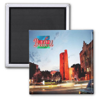 AZ - Azerbaijan - Baku - Maiden tower 2 Inch Square Magnet