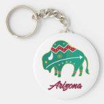 AZ Buffalo Clan 2 Basic Round Button Keychain