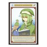 "AZ card - Astrology of the Waxing Moon 3.5"" X 5"" Invitation Card"
