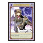 AZ card - First Contract 案内状