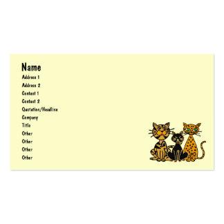 AZ- Crazy Cats Cartoon Business Cards