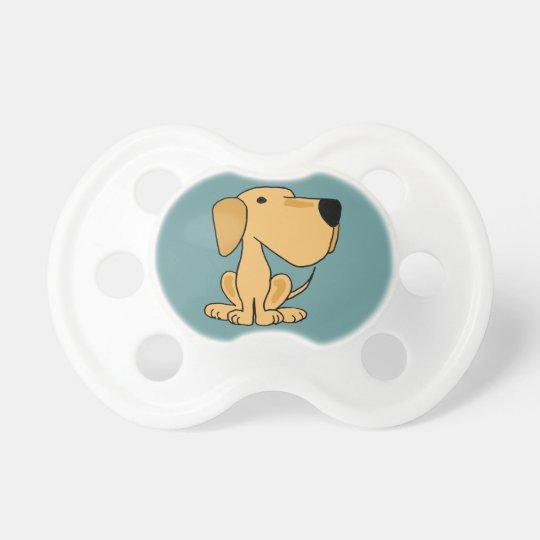 AZ- Cute Yellow Labrador Baby Pacifier