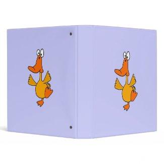 AZ- Dancing Duck Cartoon Binder
