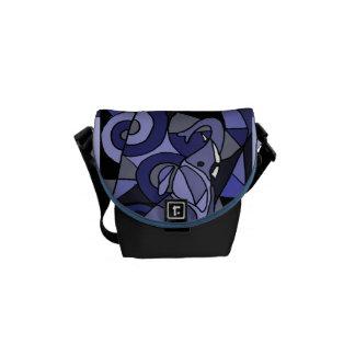 AZ- Elephant Art Mini Messenger Bag