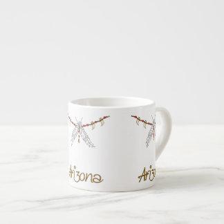 AZ Feather Necklace Espresso Cup