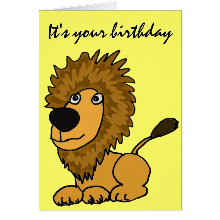 AZ- Funny Lion Birthday Card