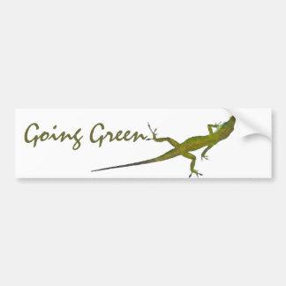 AZ- Going Green Lizard Bumper Sticker Car Bumper Sticker