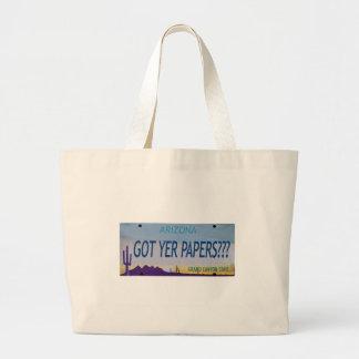 AZ Got yer Papers? Jumbo Tote Bag