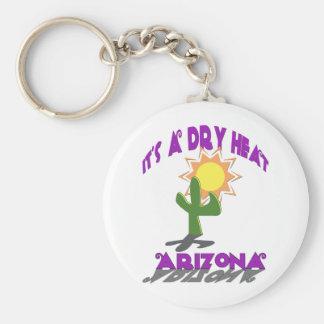 AZ-It's a Dry Heat Basic Round Button Keychain