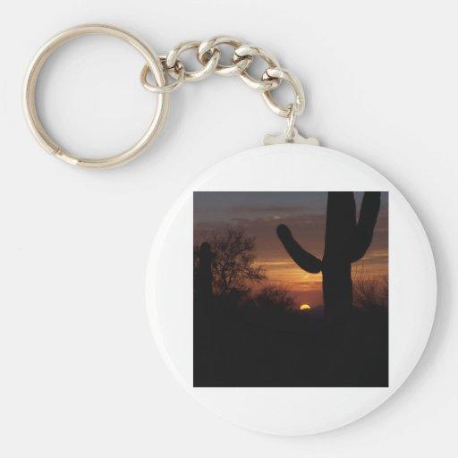 AZ sunset 1 Keychain