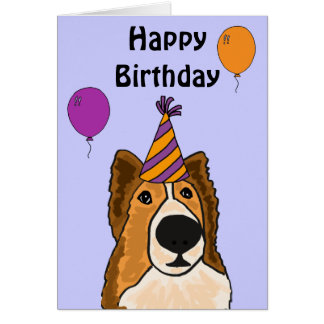 AZ- tarjeta de cumpleaños linda del perro de