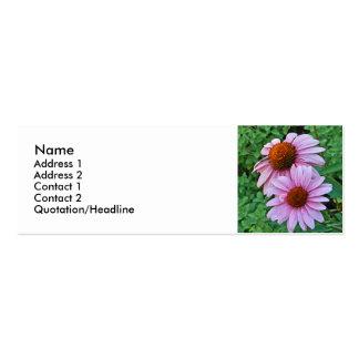 AZ- tarjetas de visita florales rosadas de