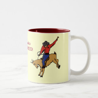 AZ- taza del rodeo de la cabra