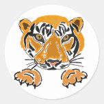 AZ- tigres pegatinas de las patas Pegatina Redonda