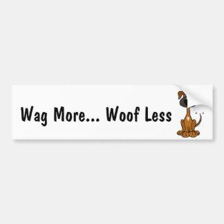 AZ- Wag More Woof Less Puppy Dog  Bumper Sticker