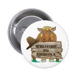 AZ- Welcome to Arizona Horse 2 Inch Round Button