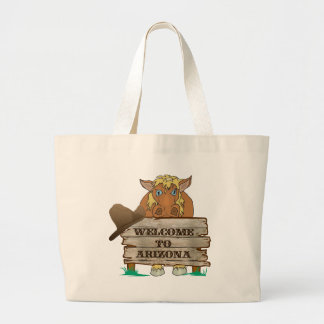 AZ- Welcome to Arizona Horse Jumbo Tote Bag