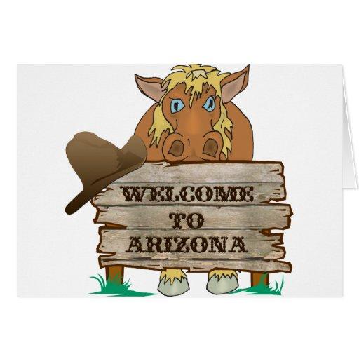 AZ- Welcome to Arizona Horse Greeting Card