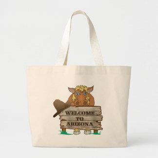 AZ- Welcome to Arizona Horse Large Tote Bag