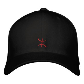 aZa rouge de 3 cm Embroidered Hat
