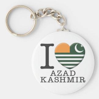 Azad Kashmir Basic Round Button Keychain