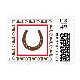 Azada abajo timbres postales