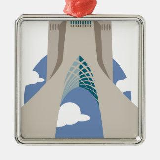 Azadi Tower Tehran Metal Ornament