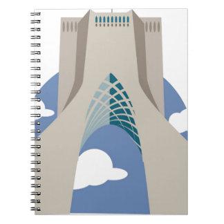 Azadi Tower Tehran Notebook