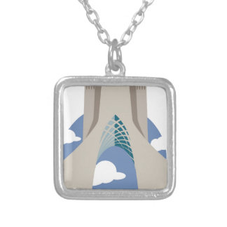 Azadi Tower Tehran Silver Plated Necklace