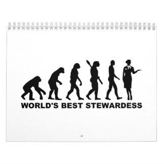 Azafata del mundo de la evolución la mejor calendario de pared