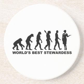 Azafata del mundo de la evolución la mejor posavasos diseño