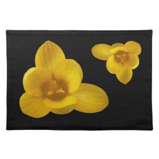 Azafrán amarilla Placemat Mantel Individual