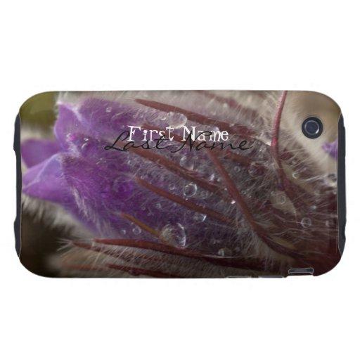 Azafrán con las gotas del agua; Personalizable Tough iPhone 3 Protectores