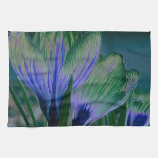 Azafrán de la luna azul toallas