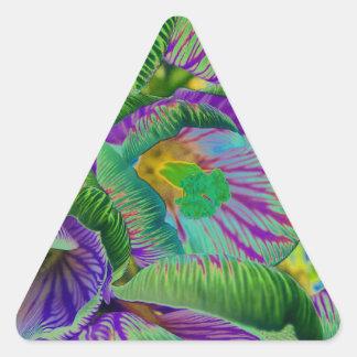 Azafrán de Psychelic Pegatinas De Triangulo Personalizadas